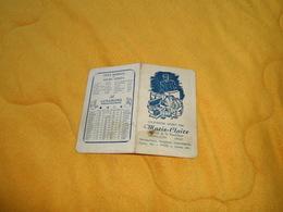 PETIT CALENDRIER ANCIEN DE 1955. / MARIE-CLAIRE MAROQUINERIE PARAPLUIES...MONTLUCON.. - Calendars