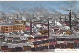 DEUTSCHLAND Allemagne ( Rhenanie Nord West. ) ESSEN RUHR : Krupp'sche Werke - CPA 1923 - Industrie Usine Fabrik Fabriek - Essen