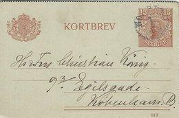 Sweden - Kortbrev Stationery.  Used 1920   Sent To Denmark   S-4338 - Postal Stationery