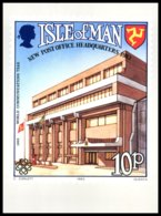 Isle Of Man -New Post Office-World Communication Year. Set Of 2 Stamp Cards 1983. ** MNH. - Timbres (représentations)
