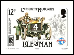 Isle Of Man-Century Of  Motoring . Set Of 6 Stamp Cards 1985. ** MNH. - Timbres (représentations)