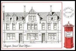 IOM- Regent Street Post Office Douglas -Manx Postal Museum Card. Cachet.1er Jour En Marge,pas De Timbre. - Bâtiments & Architecture
