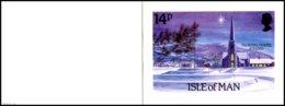 IOM- Christmas 1985 Manx Churches. CP Double Illustrée  Avec 14p Y&t 291-SG 304  ** - Timbres (représentations)