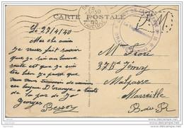 """Cachet Militaire """"DEPOT DE CAVALERIE N°15 ORANGE VAUCLUSE"""" 1940  Frappe Superbe - Marcophilie (Lettres)"""