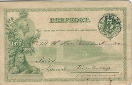 Sweden Brefkort  Stationery.  Used 1910    Sent To Denmark   S-4339 - Postal Stationery
