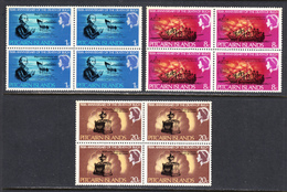 Pitcairn Islands 1967 Mint No Hinge, Blocks, Sc# 85-87, SG 82-84 - Stamps