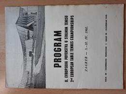 Table Tennis, Yugoslavia Zagreb European Championship 1960 Program - Table Tennis