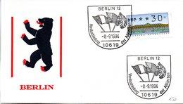 """(FC-6) BRD Sonder-Umschlag """"Berlin"""" EF Mi ATM SST 8.9.1994 BERLIN 12 """"Verabschiedung Der Alliierten"""" - Cartas"""