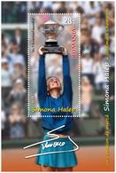 ROMANIA, 2018, SIMONA HALEP, Tennis, Souvenir Sheet, MNH (**); LPMP 2209a - 1948-.... Républiques