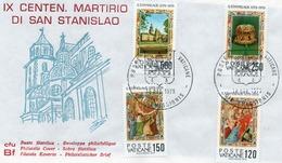 VATICANO-BUSTA FILATELICA PRIMO GIORNO-IX CENT. MARTIRIO DI SAN STANISLAO-1979-FDS - FDC