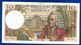 BILLET 10 FRANCS VOLTAIRE 1966 - 10 F 1963-1973 ''Voltaire''