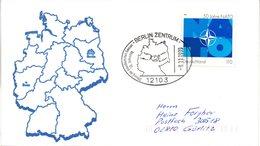 """(FC-6) BRD Sonder-Umschlag """"Gesamt-Deutschland"""" EF Mi 2039 SST 9.11.1999 BERLIN ZENTRUM - Covers & Documents"""