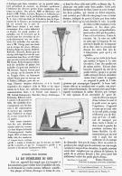 APPAREIL POUR VERIFIER LA LOI D'EQUILIBRE DU COIN  1895 - Sciences & Technique