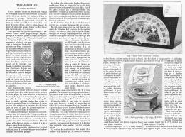 PENDULE EVENTAIL  Et PENDULE MAGNETIQUE    1895 - Bijoux & Horlogerie