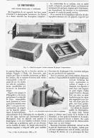 LE PHOTOSPHERE Avec CHASSIS METALLIQUE à REPETITION   1895 - Photography