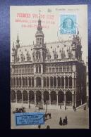 Belgium:  Airmail Cover  First Night Flight   Brussels - London - Luchtpost