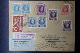 Belgium:  Airmail Cover Sabena Line Brussels, Paris, Geneva And Resend To London  24-2-1925 In Box Handstamp PAR AVION P - Airmail