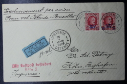 Belgium:  Airmail Cover First Flight Oostende -> Brussels, And To Köln 15-5-1928 - Posta Aerea