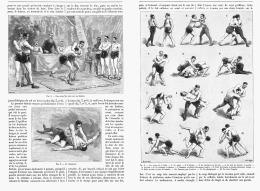LA LUTTE MODERNE  1895 - Wrestling
