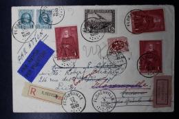 Belgium: Registered Airmail Cover First Flight (Florenville) Amsterdam -> Medan Dutch East Indies 23-9-30 - Luchtpost