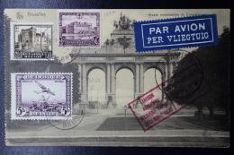Belgium: Airmail Card Brussels - Leopoldville -Uvisa Kiri Belgian Congo 6-12-30 Special PA 5 Fabry/Vanderlinden Flight - Luchtpost