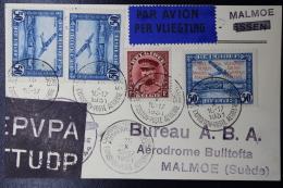 Belgium: Airmail Card Antwerp -> Malmoe Sweden Airmail Exhibition 15-10-1931 - Luchtpost