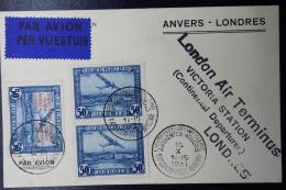 Belgium: Airmail Card Antwerp -> London Airmail Exhibition 16-10-1931 - Luchtpost