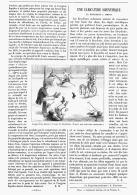 """UNE CARICATURE SCIENTIFIQUE  """" LA BICYCLETTE à AIMANT """"   1895 - Transports"""