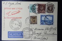 Belgium Zeppelin Card Brussels -> Recife - Pernambuco Oct. 1932 Sieger 189 LZ 127 Zuleitungspost Treaty Dispatch - Luchtpost