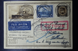 Belgium Airmail Uprated Postcard First Flight Knokke - Rotterdam Vv  1-7-1933 - Luchtpost