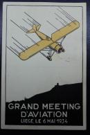 Belgium Airmail Card 1934 Liege Aviation Meeting  06-05-1934 - Luchtpost