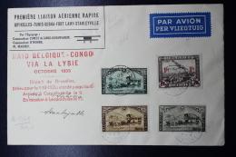 Belgium Airmail Cover  Brussels -> Leopoldville - Stanleyville 30-9-1935 Via Libie - Luchtpost
