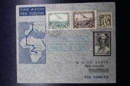 Belgium Airmail Cover Brussels ->Elisabethville First Direct Flight  (not Via Leopoldville) 16-11-1935 Sabena - Luchtpost