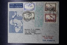 Belgium Airmail Cover Brussels ->Elisabethville -> LUEBO-> Brussels First Direct Flight 15-11-1935 - Luchtpost