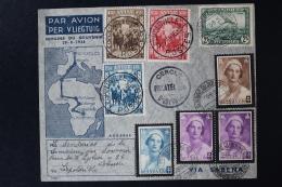Belgium Airmail Cover Ostend -> Leopoldville -> Ostend, 29-8-1936 - Luchtpost