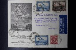Belgium Airmail Cover Antwerp - London, Antwerp Permanent Aeronautical Exhibition 24-8-1937 - Luchtpost