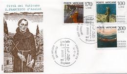 CITTA DEL VATICANO-BUSTA FILATELICA PRIMO GIORNO-S.FRANCESCO D ASSISI-1977-FDS - FDC