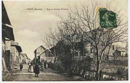 -1184- Savoie -  ARBIN  : Rue Du Village Et Ancien Prieuré   BELLE ANIMATION   Circulée En 1911 - Other Municipalities