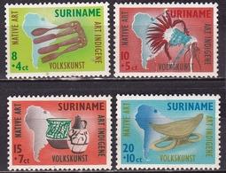 SURINAME 1960 Inheemse Volkskunst Complete Postfrisse Serie NVPH 336 / 339 - Suriname ... - 1975