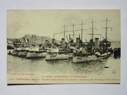 Cherbourg, Torpilleurs Dans Le Bassin Du Commerce, Normandie Pittoresque - Cherbourg
