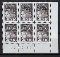 """FR Coins Datés YT 3086 """" Marianne De Luquet 10c.bistre-noir """" Neuf** Du 17.07.97 - 1990-1999"""