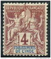 Inde (1892) N 3 * (charniere) - Unused Stamps