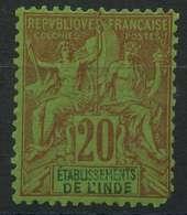 Inde (1892) N 7 * (charniere) (dent Manquante Dans Le Coin Inferieur Droit) - Unused Stamps