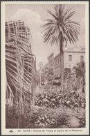 Avenue De France Et Square De La Résidence, Tunis, C.1920s - Younès CPA - Tunisia