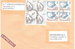 ESPRESSO QUARTINA £1000 E £100 - 1991-00: Marcophilie