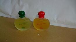 Miniature J.Hallyday  Lot De 2 Bouteilles Différentes Tendresse Et Que Je T'Aime - Perfume Miniatures