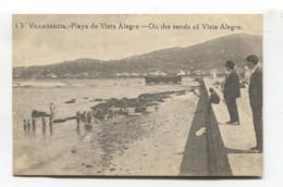 Vilagarcía De Arousa / Villagarcía - Playa De Vista Alegre - Old Spain Postcard - Pontevedra