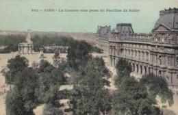 AP09 Paris, Le Louvre Vue Prise Du Pavillon De Sully - 1907 Pc, Postage Due - Louvre