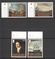 QQ300 2010 SOUTH GEORGIA SHIPS & BOATS WILLIAM HODGES 1744-1797 1SET MNH - Ships