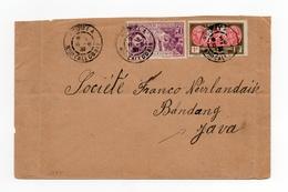 !!! PRIX FIXE : NOUVELLE CALEDONIE, LETTRE DE NOUMEA POUR JAVA DE 1937 - Briefe U. Dokumente